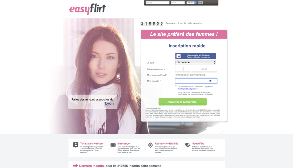 EasyFlirt, un site de rencontre pour les célibataires indécis -